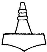 Asatru Wedding Rings 58 Vintage The hammer of Thor